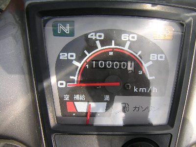 10000kmを越えたメーター。